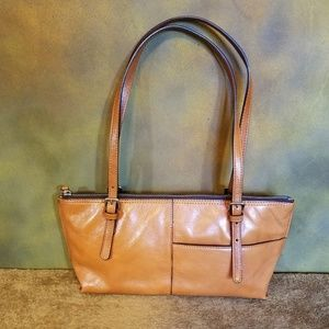 Hobo Int'l Genuine Leather in Camel Tan Handbag